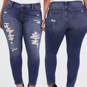 Torrid Destroyed Jeans Distressed Skinny